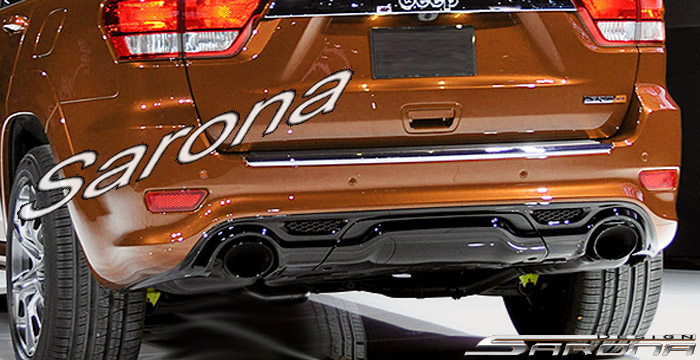 Custom Jeep Grand Cherokee  SUV/SAV/Crossover Rear Bumper (2011 - 2019) - $690.00 (Part #JP-003-RB)