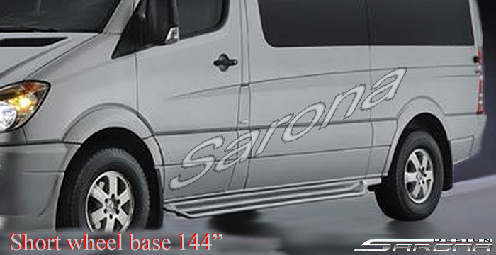 Custom Mercedes Sprinter  Van Running Boards (2007 - 2018) - $850.00 (Part #MB-006-SB)
