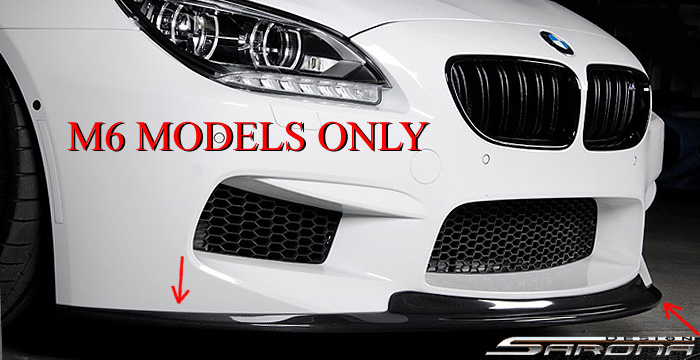 Custom BMW 6 Series  Coupe, Convertible & Sedan Front Add-on Lip (2011 - 2016) - $599.00 (Part #BM-043-FA)