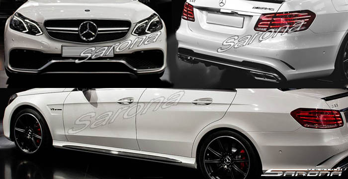 Custom Mercedes E Class  Sedan Body Kit (2014 - 2016) - Call for price (Part #MB-146-KT)