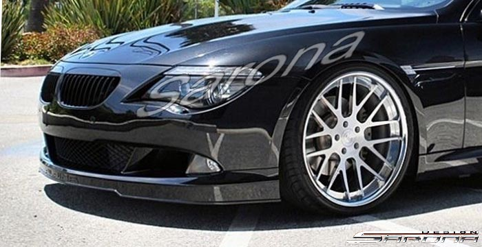 Custom BMW 6 Series  Coupe & Convertible Front Add-on Lip (2008 - 2010) - $590.00 (Part #BM-046-FA)