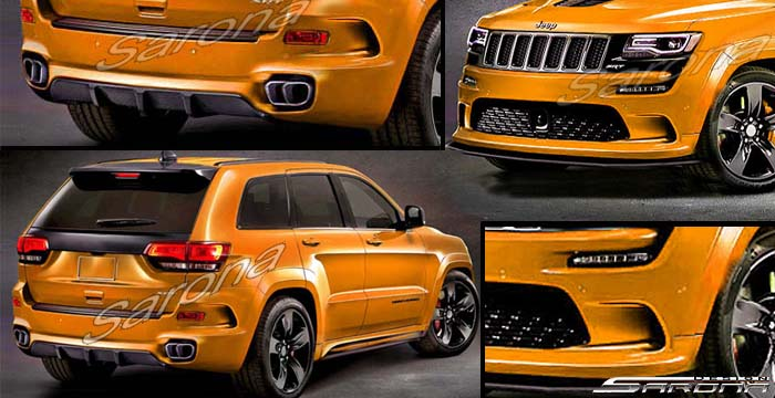Custom Jeep Grand Cherokee  SUV/SAV/Crossover Body Kit (2014 - 2016) - $3690.00 (Part #JP-009-KT)