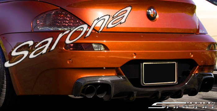 Custom BMW 6 Series  Coupe & Convertible Rear Add-on Lip (2004 - 2010) - $890.00 (Part #BM-024-RA)