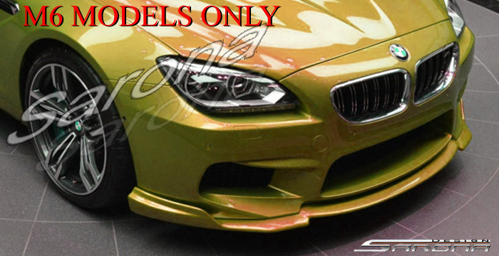 Custom BMW 6 Series  Coupe, Convertible & Sedan Front Add-on Lip (2011 - 2016) - $490.00 (Part #BM-053-FA)