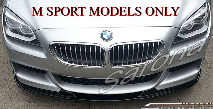 Custom BMW 6 Series  Coupe, Convertible & Sedan Front Add-on Lip (2011 - 2016) - $470.00 (Part #BM-054-FA)