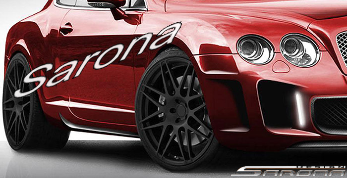 Custom Bentley GT  Coupe Side Skirts (2004 - 2012) - $890.00 (Part #BT-007-SS)