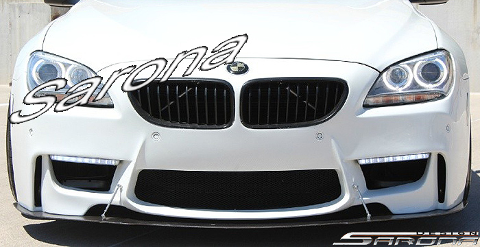 Custom BMW 6 Series  Coupe, Convertible & Sedan Front Add-on Lip (2011 - 2016) - $399.00 (Part #BM-061-FA)