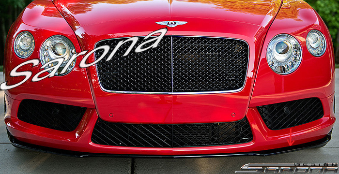 Custom Bentley GT  Coupe & Convertible Front Add-on Lip (2012 - 2014) - $790.00 (Part #BT-005-FA)