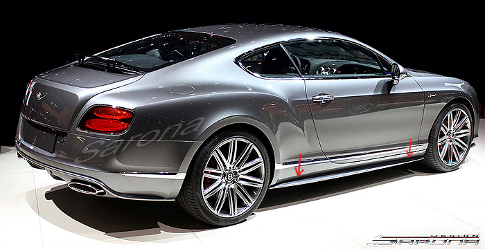 Custom Bentley GT  Coupe & Convertible Side Skirts (2012 - 2017) - $980.00 (Part #BT-009-SS)