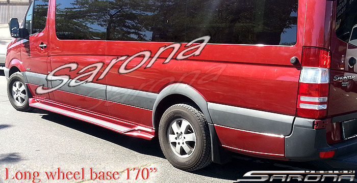 Custom Mercedes Sprinter  Van Running Boards (2007 - 2017) - $990.00 (Part #MB-009-SB)