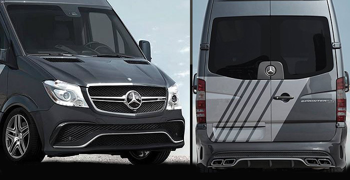 Custom Mercedes Sprinter  Van Body Kit (2007 - 2013) - Call for price (Part #MB-151-KT)