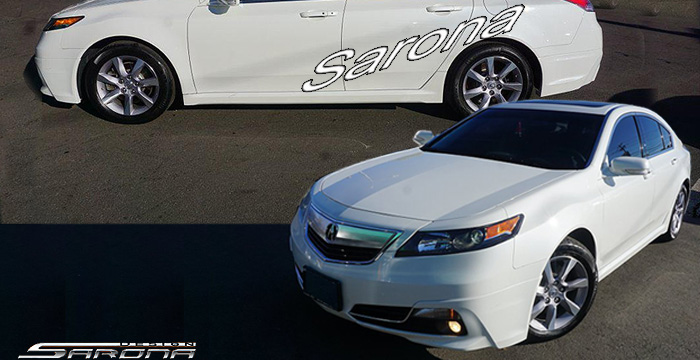 Custom Acura TL Sedan Front Addon Lip Part - Acura tl lip
