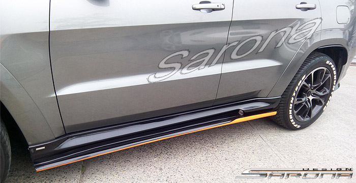 Custom Jeep Grand Cherokee  SUV/SAV/Crossover Side Skirts (2011 - 2019) - $750.00 (Part #JP-005-SS)