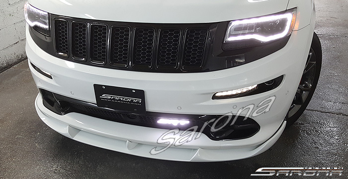 Custom Jeep Grand Cherokee  SUV/SAV/Crossover Front Add-on Lip (2011 - 2016) - $790.00 (Part #JP-005-FA)