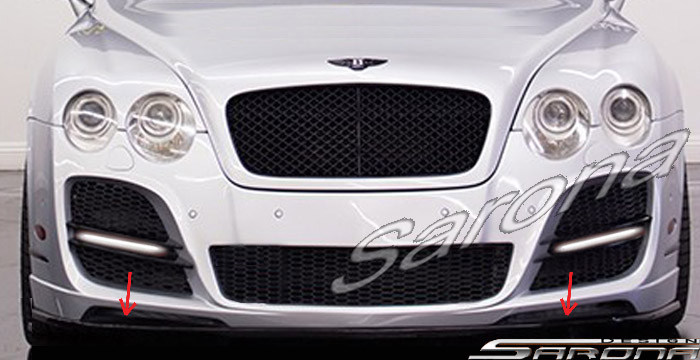 Custom Bentley GT  Coupe Front Add-on Lip (2003 - 2009) - $390.00 (Part #BT-006-FA)