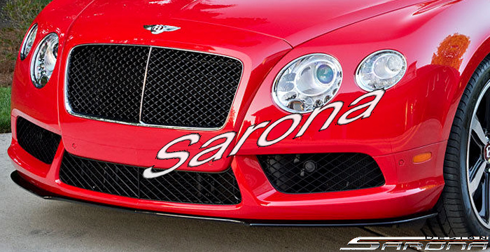Custom Bentley GTC  Coupe & Convertible Front Add-on Lip (2012 - 2014) - $690.00 (Part #BT-008-FA)