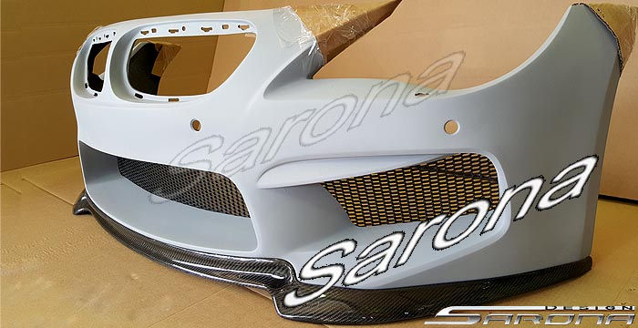 Custom BMW 6 Series  Coupe & Convertible Front Add-on Lip (2004 - 2010) - $590.00 (Part #BM-069-FA)