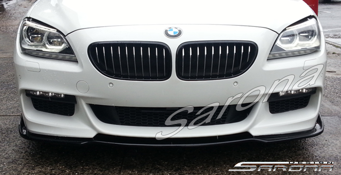Custom BMW 6 Series  Coupe, Convertible & Sedan Front Add-on Lip (2011 - 2016) - $425.00 (Part #BM-073-FA)