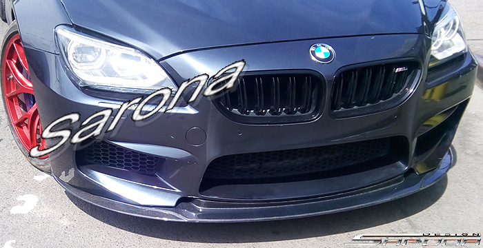 Custom BMW 6 Series  Coupe, Convertible & Sedan Front Add-on Lip (2011 - 2016) - $690.00 (Part #BM-074-FA)