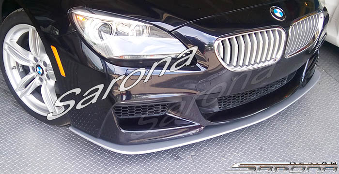 Custom BMW 6 Series  Coupe, Convertible & Sedan Front Add-on Lip (2012 - 2016) - $390.00 (Part #BM-075-FA)