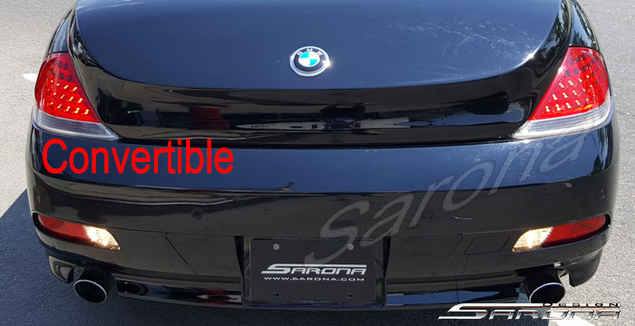 Custom BMW 6 Series  Convertible Trunk Wing (2004 - 2007) - $2900.00 (Part #BM-120-TW)