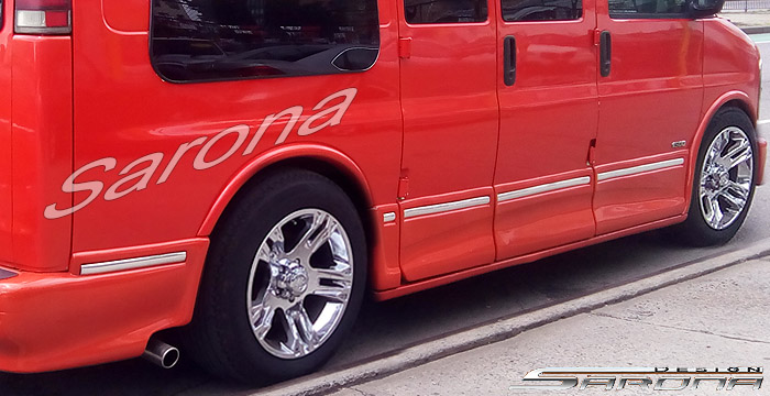 Custom Chevy Van All Styles Side Skirts 1996