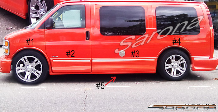Custom gmc van all styles side skirts 1996 2002 call for Car paint shop prices