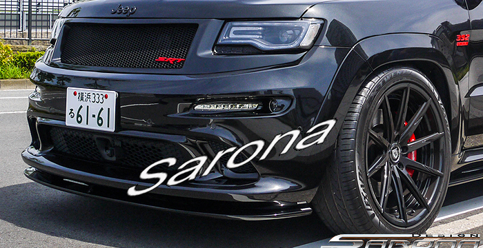 Custom Jeep Grand Cherokee  SUV/SAV/Crossover Front Add-on Lip (2011 - 2016) - $560.00 (Part #JP-007-FA)
