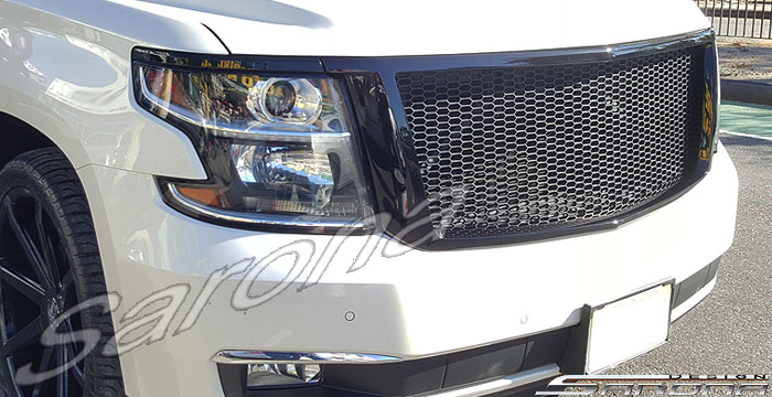 Chevy Tahoe Suburban Custom Mesh Grill Open Customized Hood Body Kit Sarona New York Jersey Chicago Lip Skirts Trunk Roof Wings Spoiler Cover