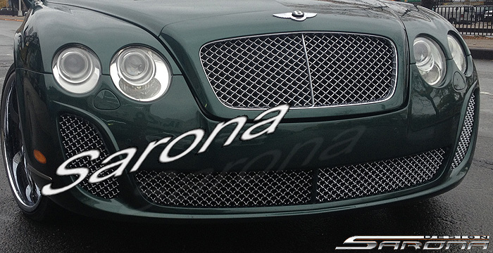 Custom Bentley Flying Spur  Sedan Front Bumper (2005 - 2009) - $1790.00 (Part #BT-013-FB)
