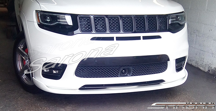 Custom Jeep Grand Cherokee  SUV/SAV/Crossover Front Add-on Lip (2017 - 2019) - $590.00 (Part #JP-010-FA)
