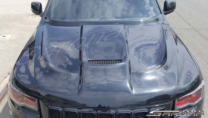 Custom Jeep Grand Cherokee  SUV/SAV/Crossover Hood (2011 - 2020) - $890.00 (Part #JP-015-HD)