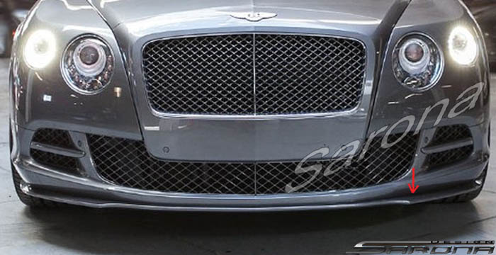 Custom Bentley GT  Coupe Front Add-on Lip (2011 - 2017) - $690.00 (Part #BT-009-FA)