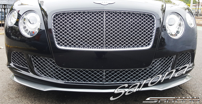 Custom Bentley GTC  Convertible Front Add-on Lip (2011 - 2015) - $790.00 (Part #BT-010-FA)