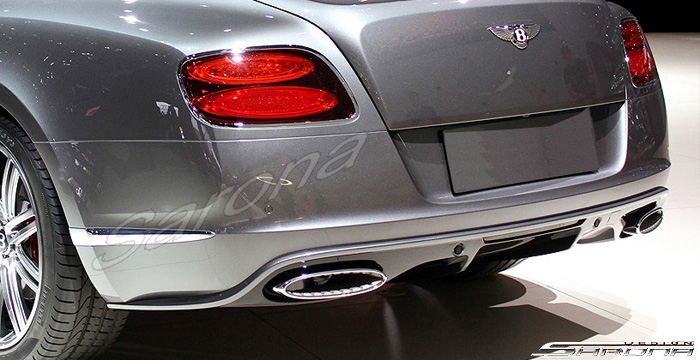 Custom Bentley GT  Coupe Rear Add-on Lip (2011 - 2015) - Call for price (Part #BT-003-RA)