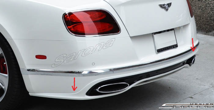 Custom Bentley GT  Coupe Rear Add-on Lip (2016 - 2017) - Call for price (Part #BT-005-RA)