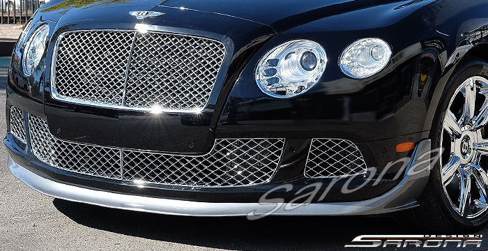 Custom Bentley GTC  Convertible Front Add-on Lip (2011 - 2017) - Call for price (Part #BT-018-FA)