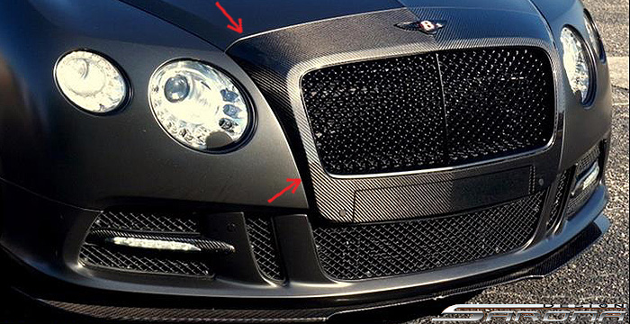Custom Bentley GT  Coupe Grill (2011 - 2017) - Call for price (Part #BT-001-GR)