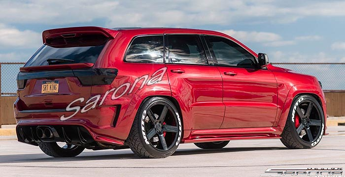 Srt Srt Custom Body Kit Spoiler Fender Hood Hellcat Difusser Sarona New York Custom Customizing Modified Cars on 1995 Jeep Grand Cherokee Custom Bumper