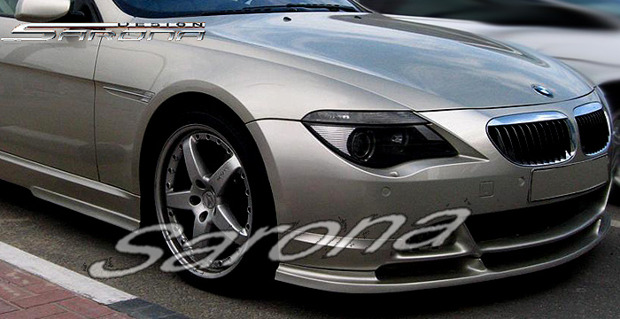 Custom BMW 6 Series  Coupe & Convertible Front Add-on Lip (2004 - 2007) - $390.00 (Part #BM-084-FA)