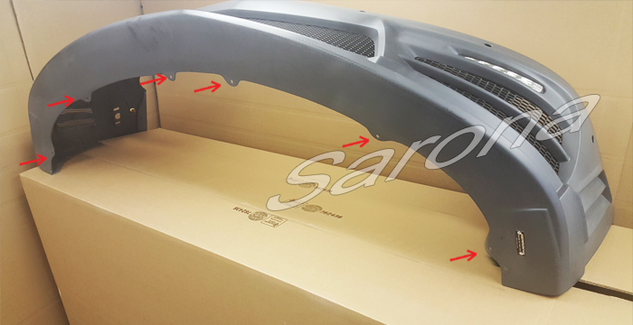 Custom Bentley GT  Coupe Front Bumper (2004 - 2010) - $1590.00 (Part #BT-027-FB)
