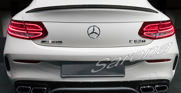 custom mercedes c class coupe trunk wing 2008 2014 call for price part mb 123 tw. Black Bedroom Furniture Sets. Home Design Ideas