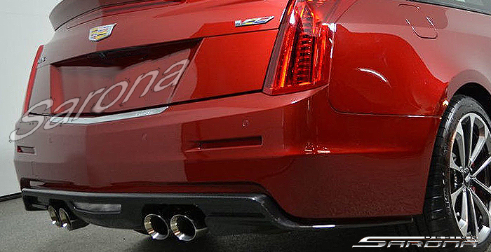Custom Cadillac ATS  Coupe Rear Add-on Lip (2014 - 2018) - $980.00 (Part #CD-003-RA)