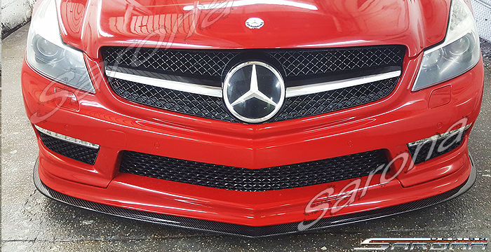Custom Mercedes SL  Convertible Front Add-on Lip (2003 - 2012) - $2900.00 (Part #MB-060-FA)