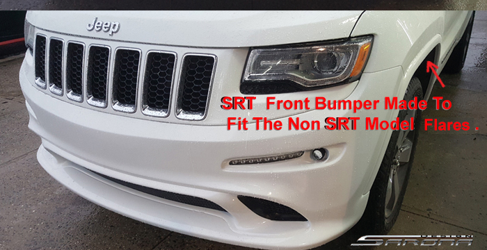 Custom Jeep Grand Cherokee  SUV/SAV/Crossover Front Bumper (2014 - 2016) - $690.00 (Part #JP-020-FB)