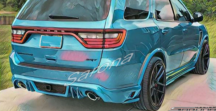 Custom Dodge Durango  SUV/SAV/Crossover Rear Add-on Lip (2017 - 2020) - $690.00 (Part #DG-011-RA)
