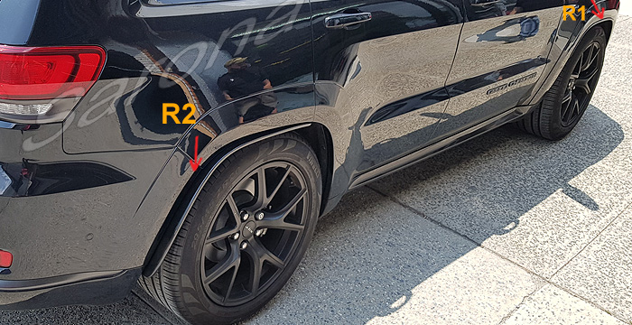 Custom Jeep Grand Cherokee  SUV/SAV/Crossover Fender Flares (2011 - 2019) - $225.00 (Part #JP-007-FF)