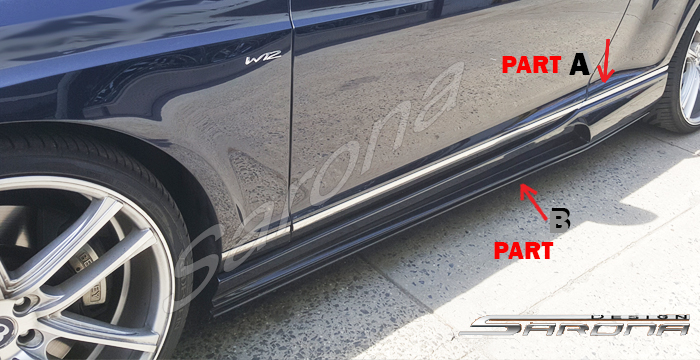 Custom Bentley GT  Coupe Side Skirts (2004 - 2012) - $980.00 (Part #BT-018-SS)