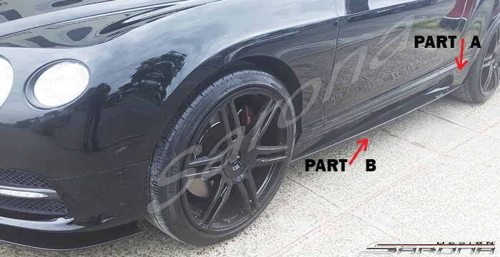 Custom Bentley GT  Coupe Side Skirts (2012 - 2017) - Call for price (Part #BT-019-SS)