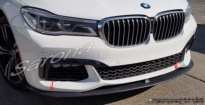 Custom BMW 7 Series  Sedan Front Add-on Lip (2016 - 2019) - $390.00 (Part #BM-088-FA)